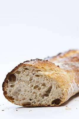 Close Up Of Sliced Loaf Of Bread Art Print by Henn Photography