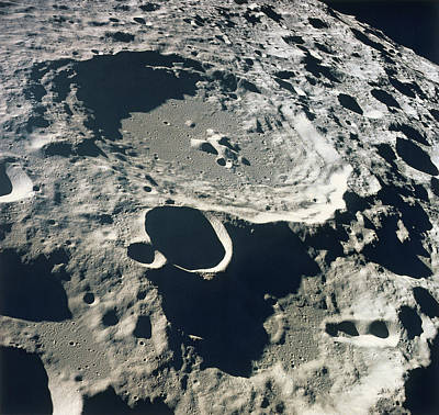 Close-up Of The Surface Of The Moon Art Print by Stockbyte