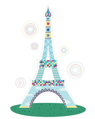 Paris Digital Art - Close-up Of Tower by Eastnine Inc.