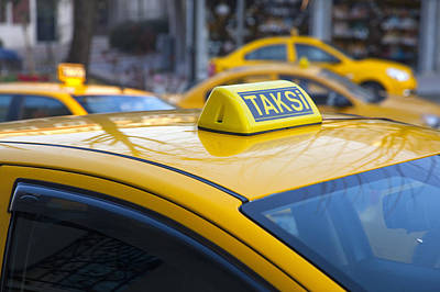 Y120831 Photograph - Close Up Of Turkish Taxi Sign by Henglein and Steets