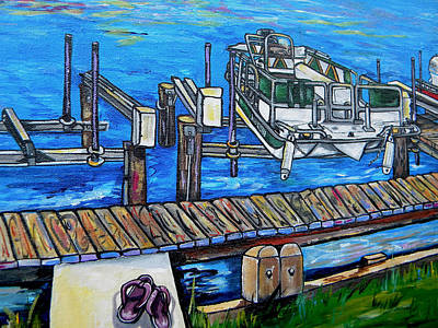Laguna Beach Painting - Close Up Of Your Boat by Patti Schermerhorn