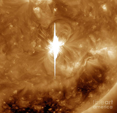 Close-up View Of A Massive X2.2 Solar Art Print by Stocktrek Images