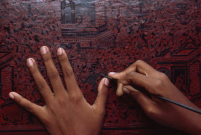 Lacquer Photograph - Close View Of The Intricate Design by James L. Stanfield