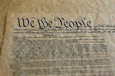 Close View Of The Us Constitution Art Print by Kenneth Garrett
