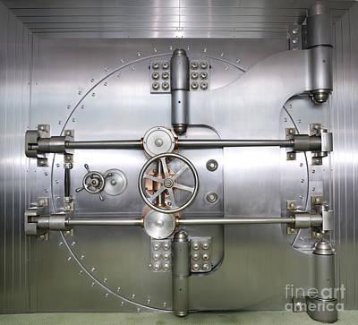 Closed Door To A Bank Vault Art Print by Adam Crowley