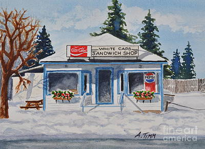 Painting - Closed For Season by Andrea Timm