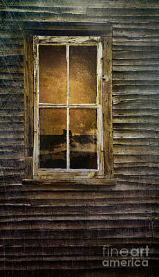 Photograph - Closeup Of Window In An Abandoned Old House by Sandra Cunningham