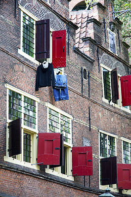 Clothes Hanging From A Window In Kattengat Art Print