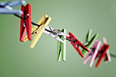 Clothesline Photograph - Clothes Pegs by Joana Kruse