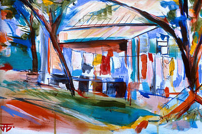Painting - Clothes Shack by John Jr Gholson