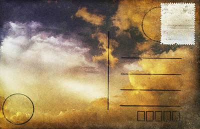 Aging Photograph - Cloud In Sunset On Postcard by Setsiri Silapasuwanchai