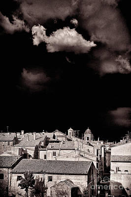 Photograph - Cloud Over Tuscania Village - Italy by Silvia Ganora