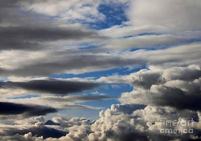 Photograph - Cloud Patterns 2 by Erica Hanel
