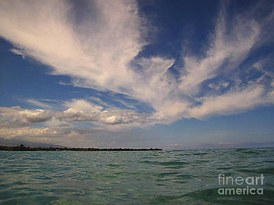 Photograph - Cloud Patterns Over The Pacific by Bette Phelan