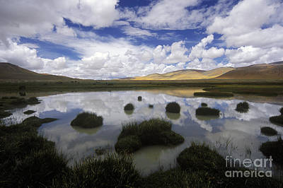 Photograph - Cloud Reflection - Tibetan Plateau by Craig Lovell