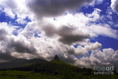 Clouded Hills At Nasik India Art Print by Sumit Mehndiratta