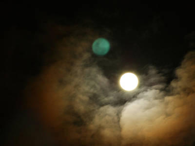 Print featuring the photograph Clouded Moon by Steve Sperry