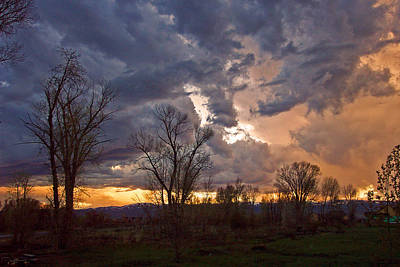 Photograph - Clouded Sunset by Eric Tressler