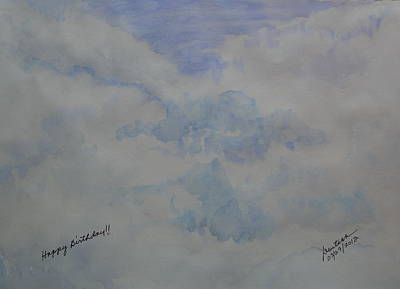 Painting - Clouds - I by Joel Deutsch