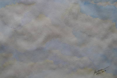 Painting - Clouds - II by Joel Deutsch
