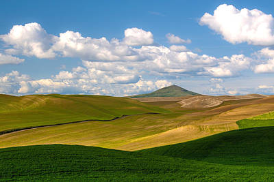 Alfalfa Photograph - Clouds And Shadows On The Palouse by Alvin Kroon