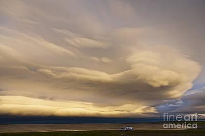 Clouds At Midsummer Night Art Print by Heiko Koehrer-Wagner