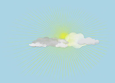 Clouds In Front Of The Sun Art Print by Jutta Kuss