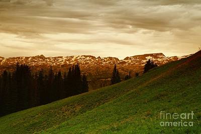 Beartooth Mountain Range Photograph - Clouds  In The Beartooth by Jeff Swan