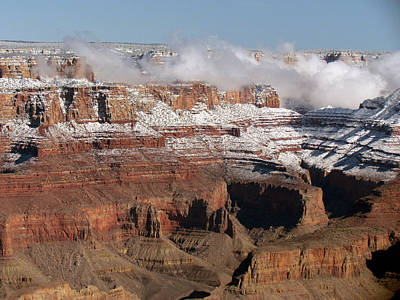 Photograph - Clouds In The Canyon by Judy Wanamaker