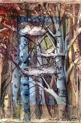 Clouds In The Trees Art Print by Mindy Newman