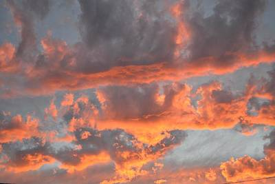 Clouds On Fire Art Print by Kevin Bone