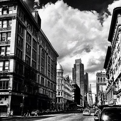 Black And White Wall Art - Photograph - Clouds Over Chelsea - New York City by Vivienne Gucwa