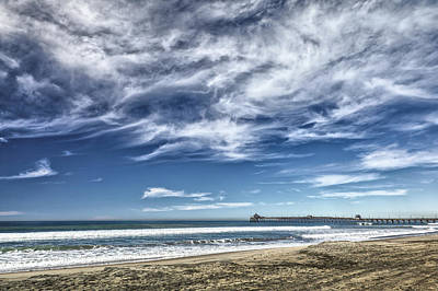 Photograph - Clouds Over Imperial Beach Pier by Peter Dyke