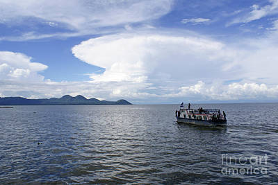 Photograph - Clouds Over Lake Managua Nicaragua by John  Mitchell