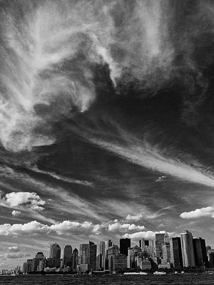 Photograph - Clouds Over Manhattan by Cornelis Verwaal