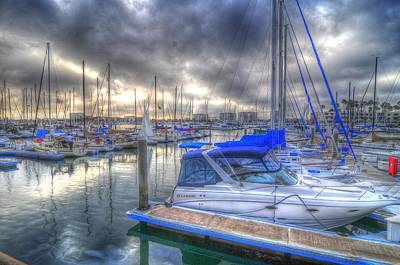 Photograph - Clouds Over Marina by Richard Omura