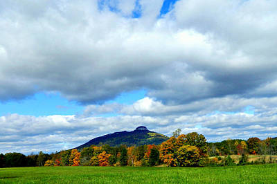 Photograph - Clouds Over Pilot Mountain by Sheila Kay McIntyre