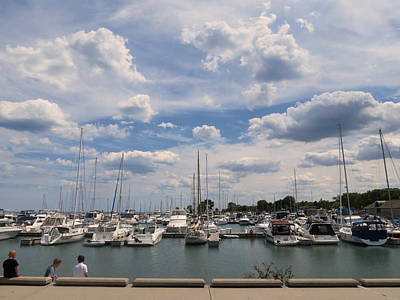 Photograph - Clouds Over The Marina by Kay Novy