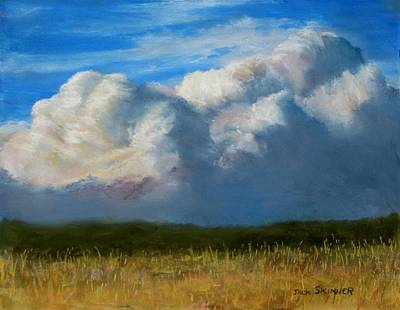 Sesuit Meadow Painting - Clouds Over The Meadow by Jack Skinner