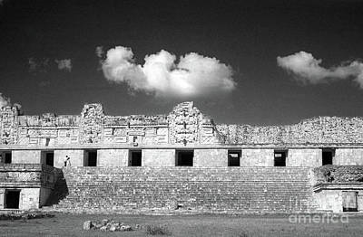 Photograph - Clouds Over The Nunnery Uxmal Yucatan Mexico by John  Mitchell