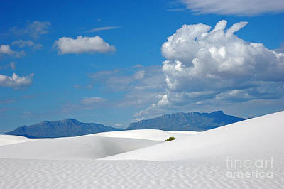 Clouds Over The White Sands Art Print