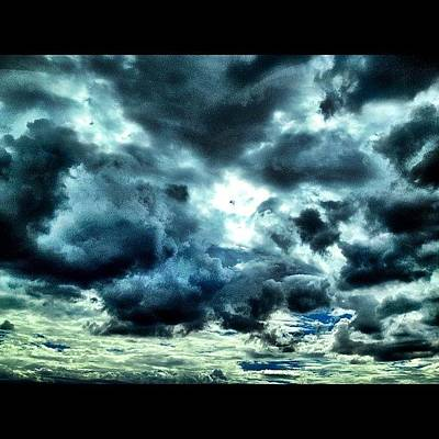 Color Contrast Photograph - #clouds #rain by Jared Campbell