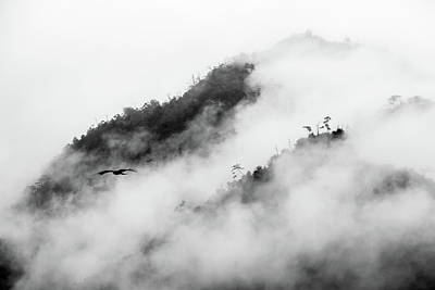 Clouds Surrounding Mountains Art Print by Ruben Sanchez Photography