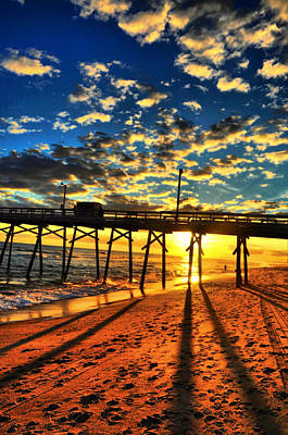 Photograph - Clouds To The Pier by Emily Stauring
