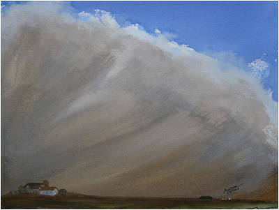 Painting - Clouds V - Dustbowl by Joel Deutsch