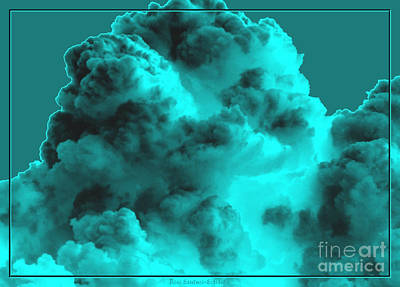 Photograph - Clouds With Underwater Special Effect Added by Rose Santuci-Sofranko
