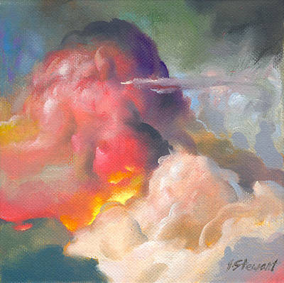 Painting - Cloudscape 4 by John Norman Stewart