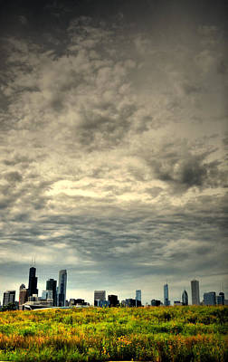 Photograph - Cloudy Chicago  by Emily Stauring