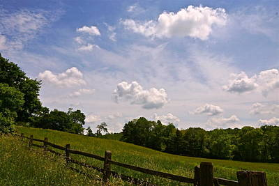 Photograph - Cloudy Countryside by Byron Varvarigos