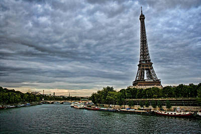 Photograph - Cloudy Evening In Paris by Heather Applegate